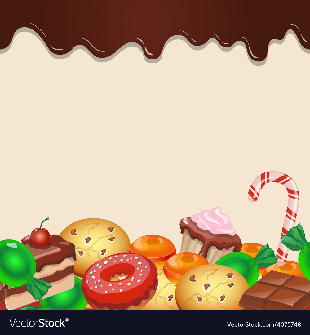 Seamless pattern colorful candy sweets and vector | Price: 1 Credit (USD $1)