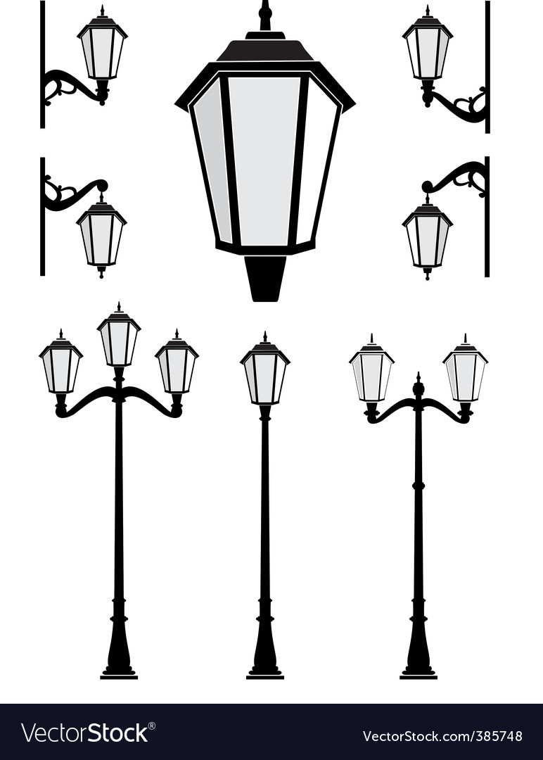 Street lanterns vector | Price: 3 Credit (USD $3)