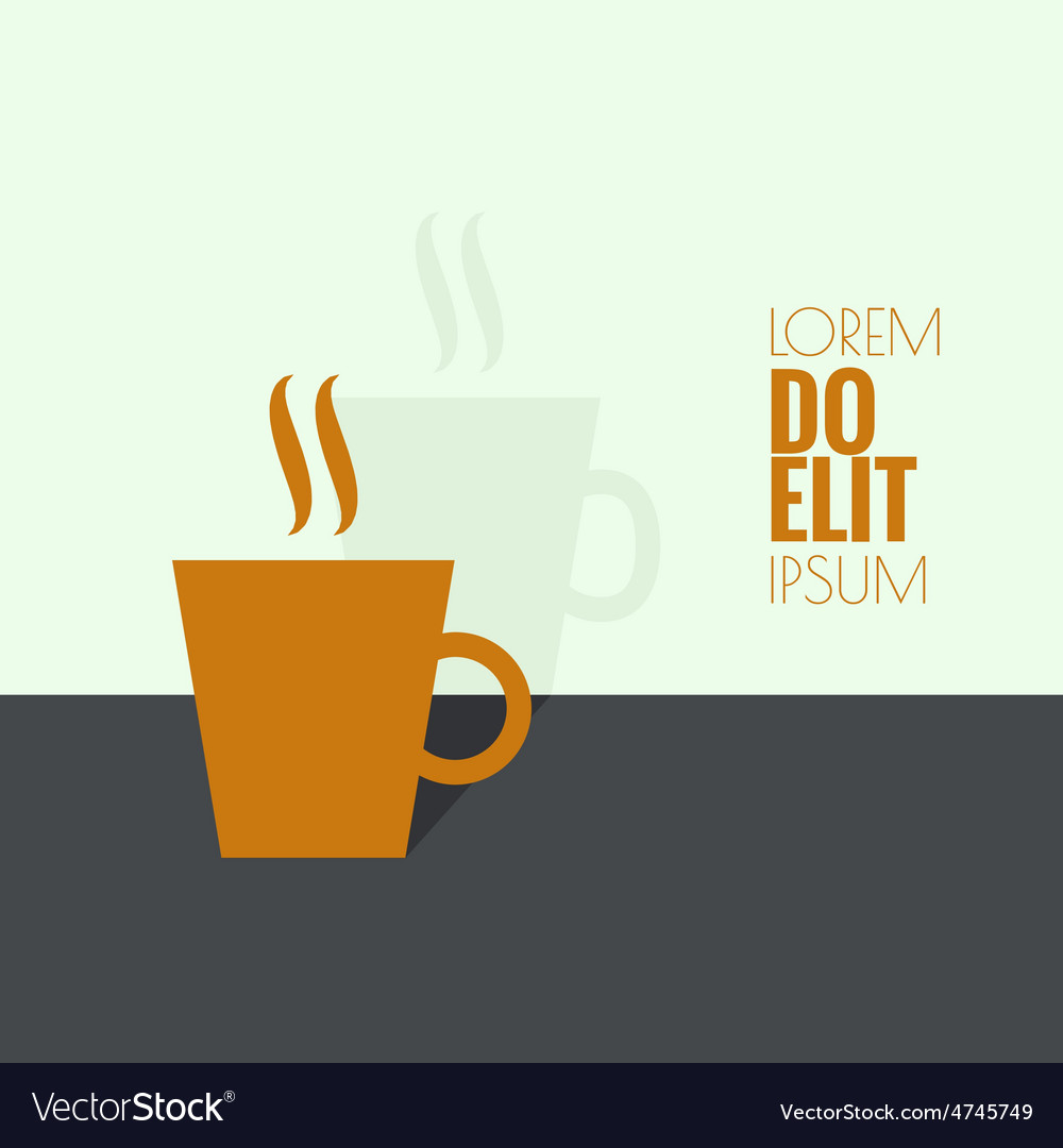 Abstract background with a cup of coffee vector | Price: 1 Credit (USD $1)