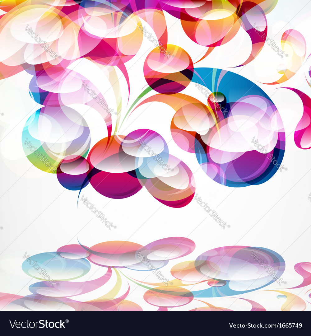 Abstract colorful arc-drop background vector | Price: 1 Credit (USD $1)