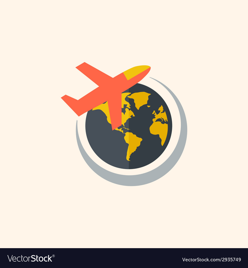 Aircraft travel flat icon vector | Price: 1 Credit (USD $1)