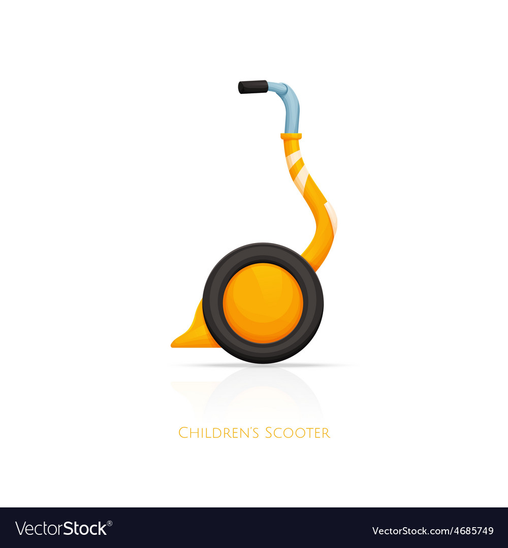 Childrens scooter one vector | Price: 1 Credit (USD $1)