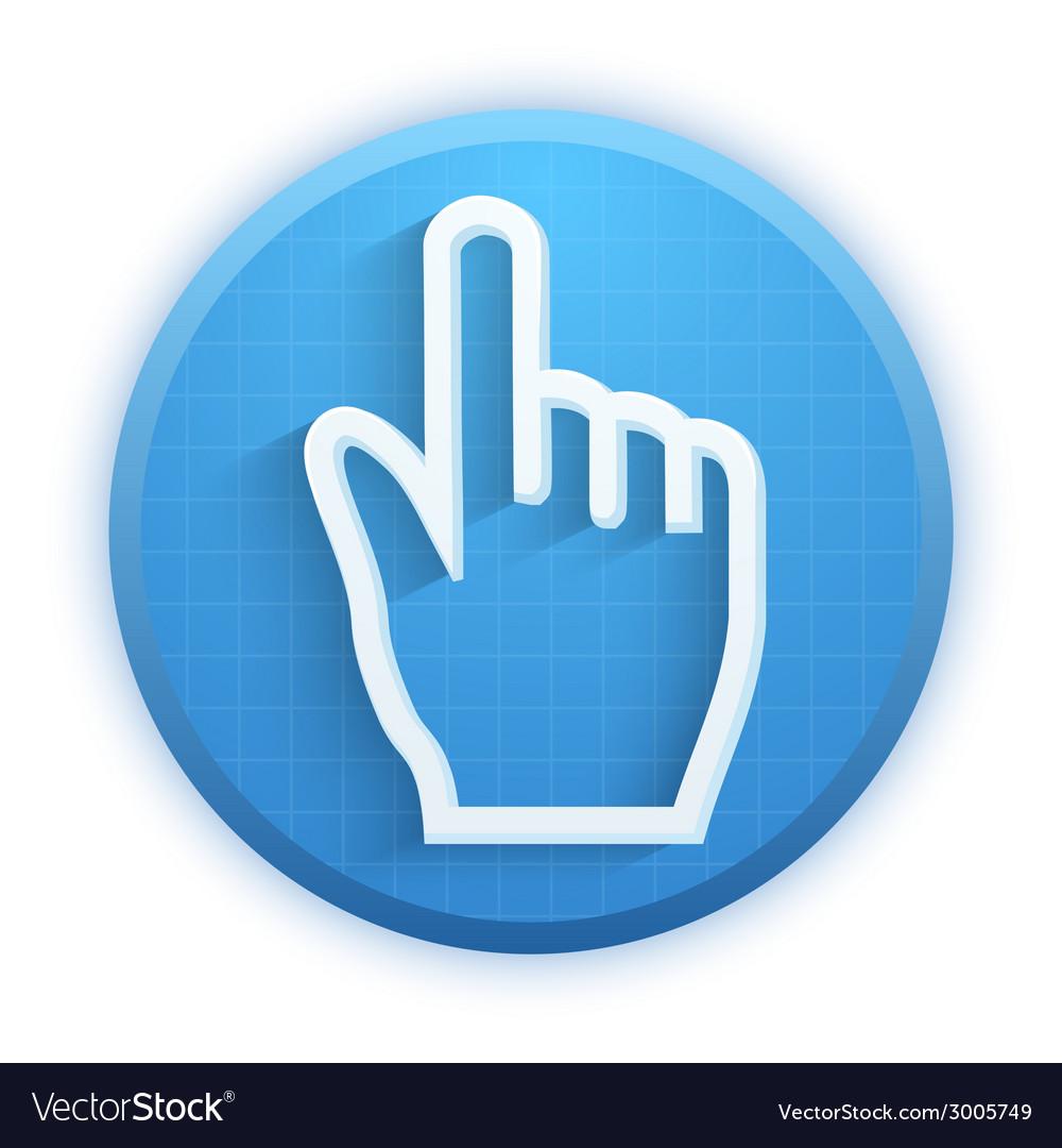 Click ursor icon mouse hand vector | Price: 1 Credit (USD $1)