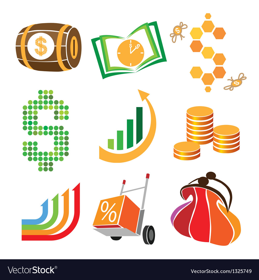 Collection of icons of finance money vector | Price: 1 Credit (USD $1)