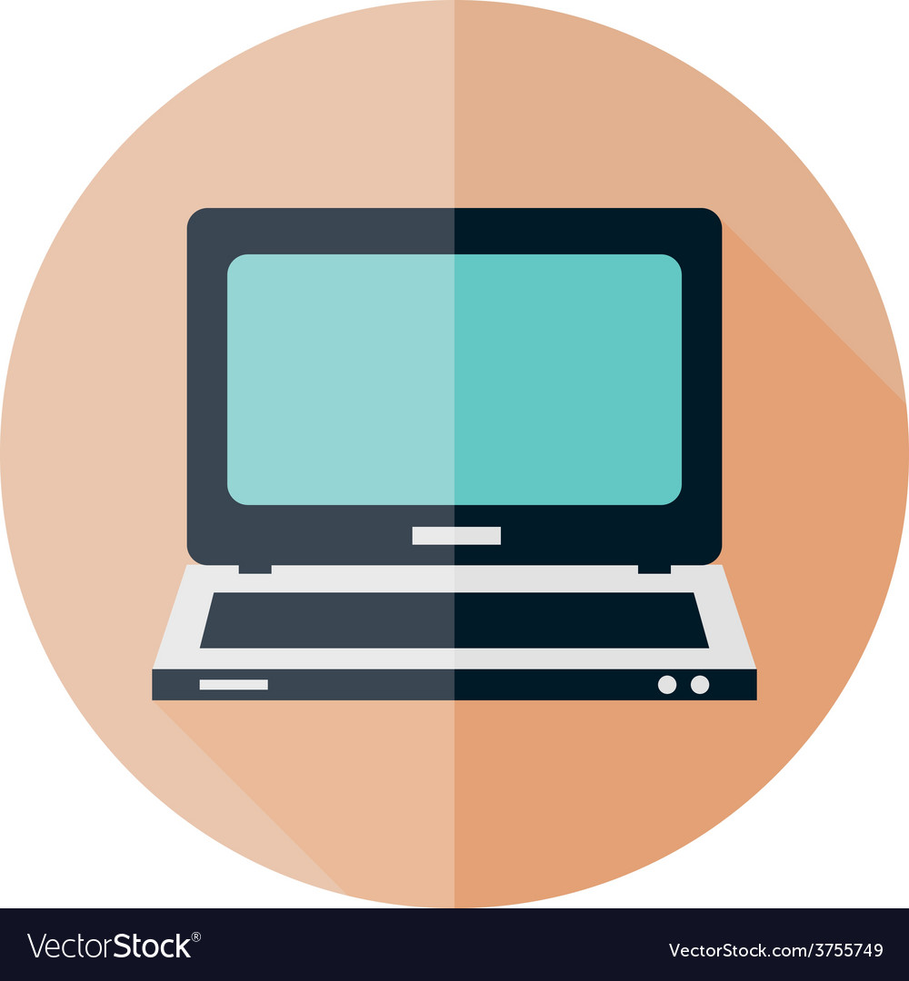 Computer flat icon vector | Price: 1 Credit (USD $1)