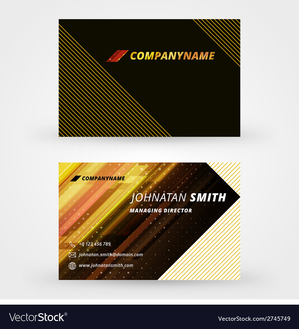 Creative business card design print template vector | Price: 1 Credit (USD $1)