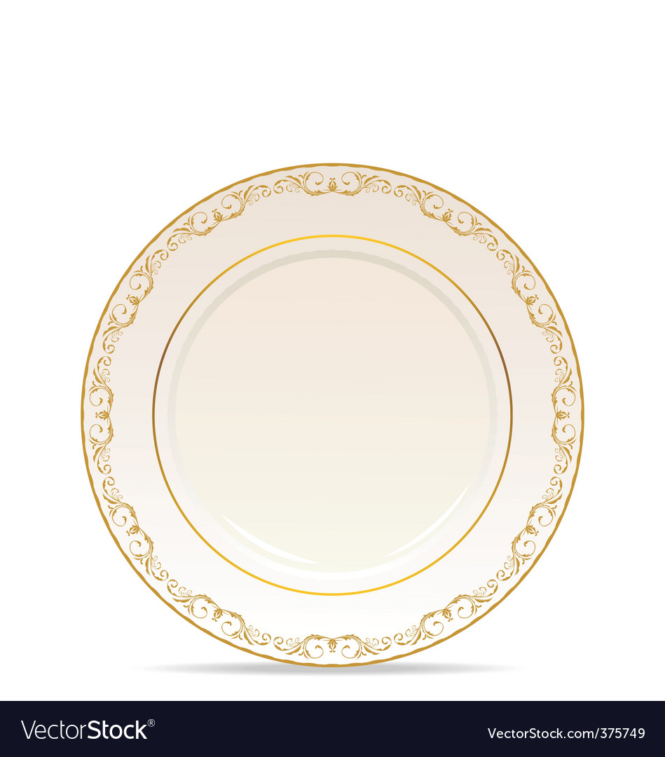 Floral ornament plate vector | Price: 1 Credit (USD $1)