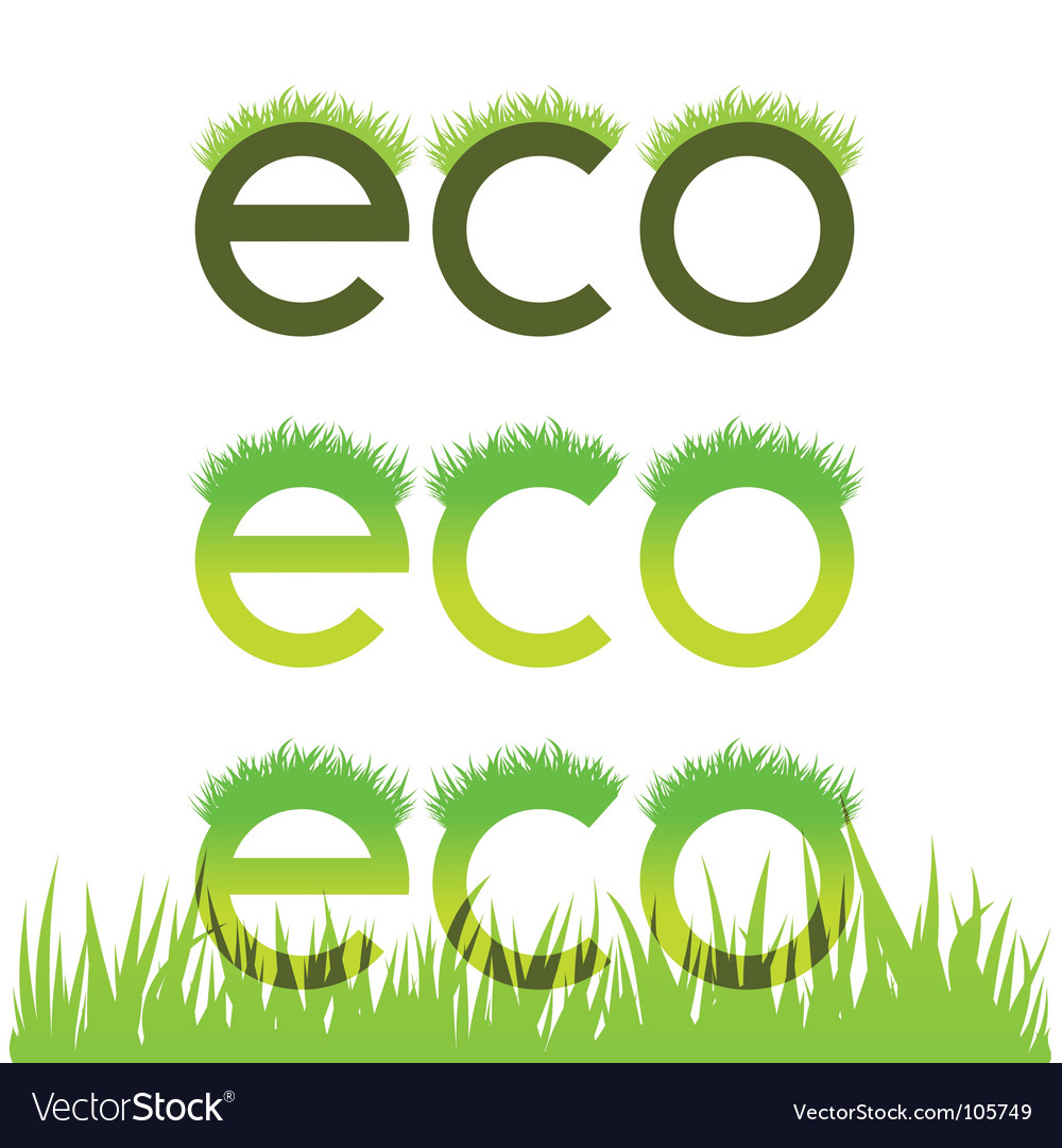 Grassy ecological emblem vector | Price: 1 Credit (USD $1)