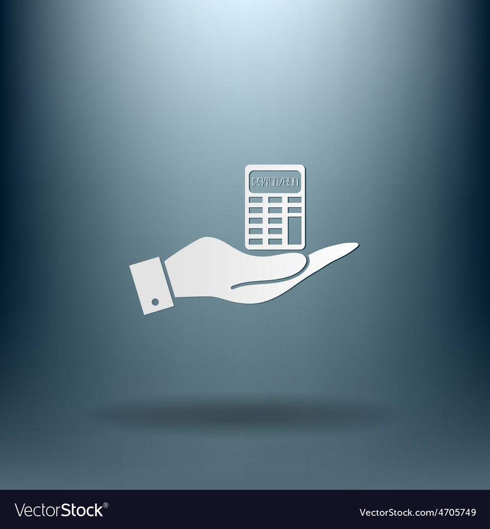 Hand holding a calculator vector | Price: 1 Credit (USD $1)