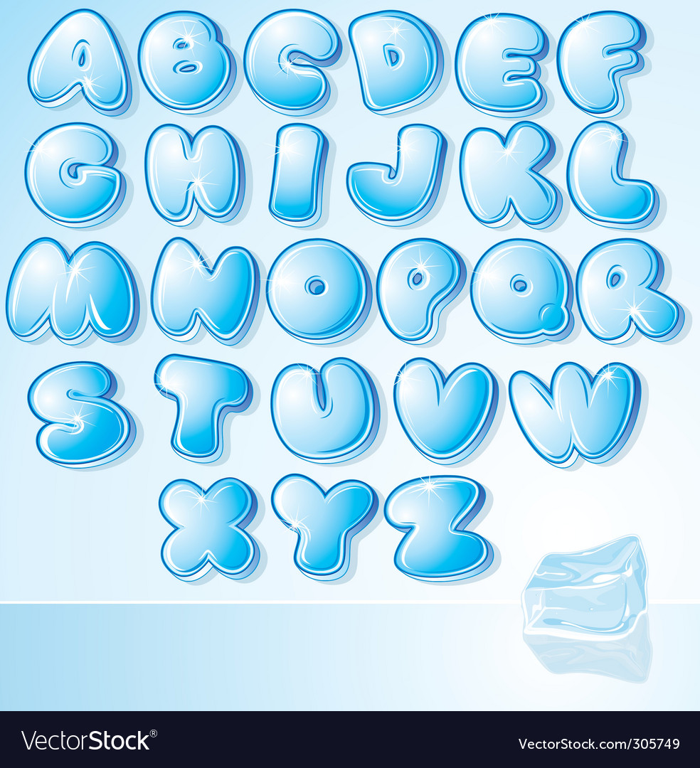 Ice font vector | Price: 3 Credit (USD $3)