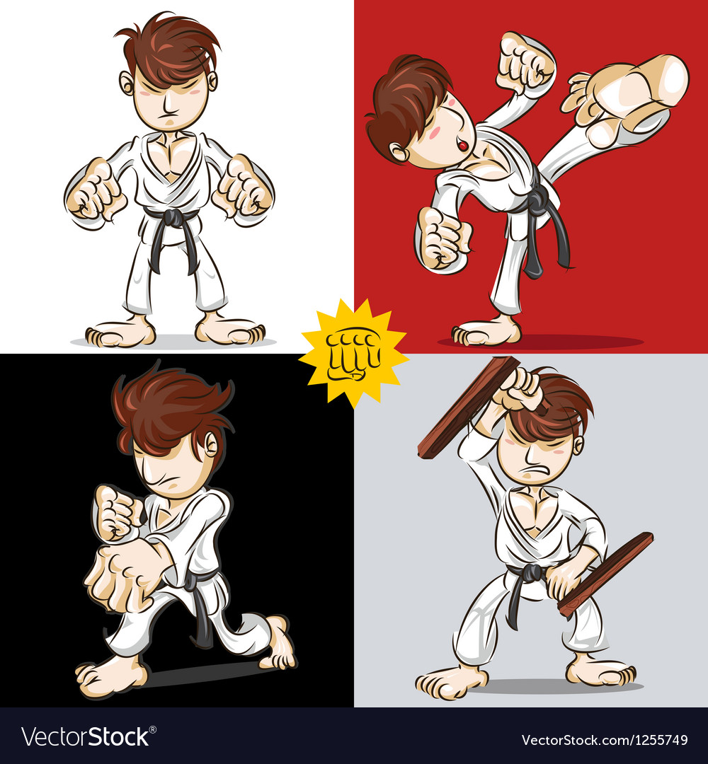 Martial art karate vector | Price: 3 Credit (USD $3)