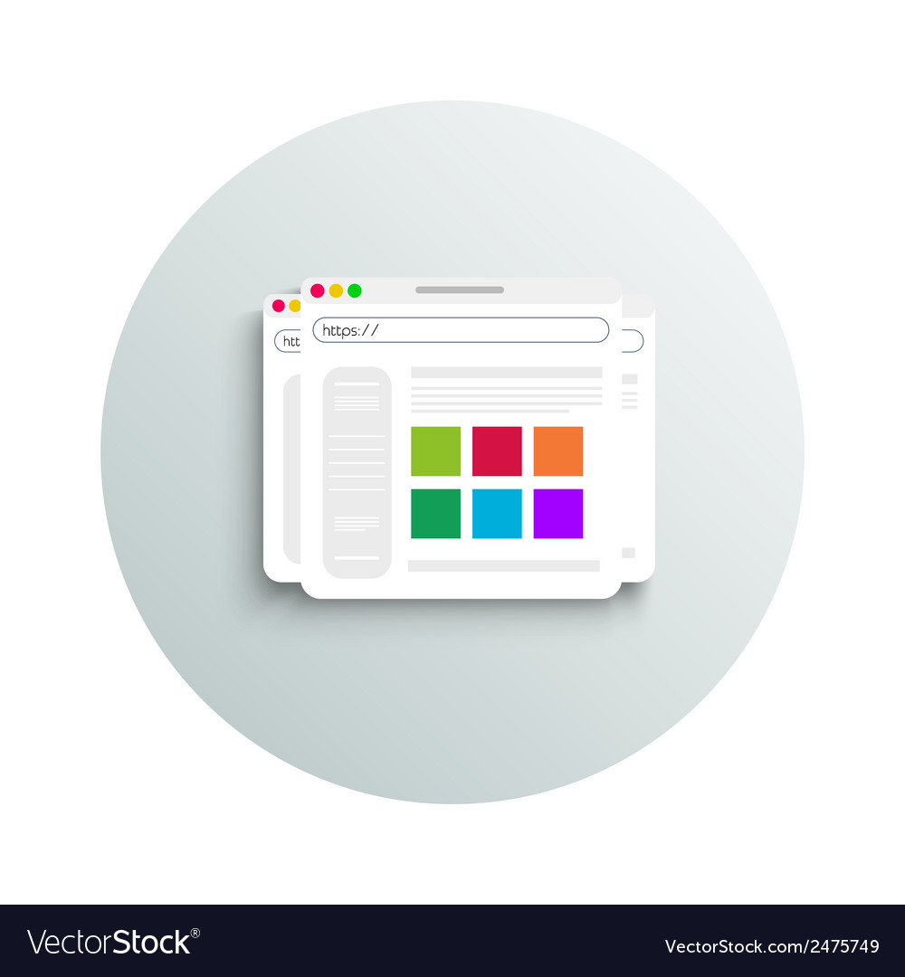 Modern app icon of browser business concept vector   Price: 1 Credit (USD $1)