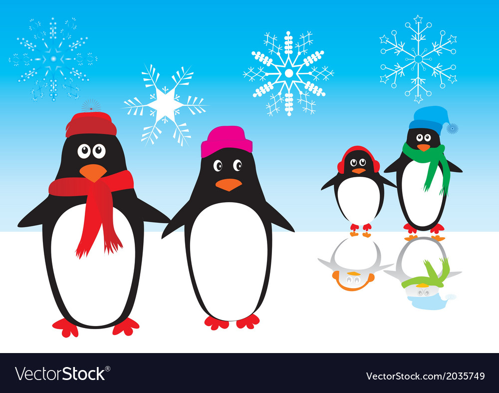 Penguins ice vector | Price: 1 Credit (USD $1)