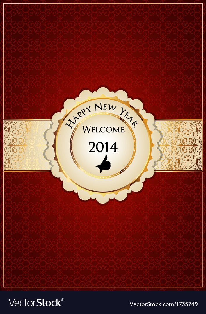 Red new year card vector   Price: 1 Credit (USD $1)