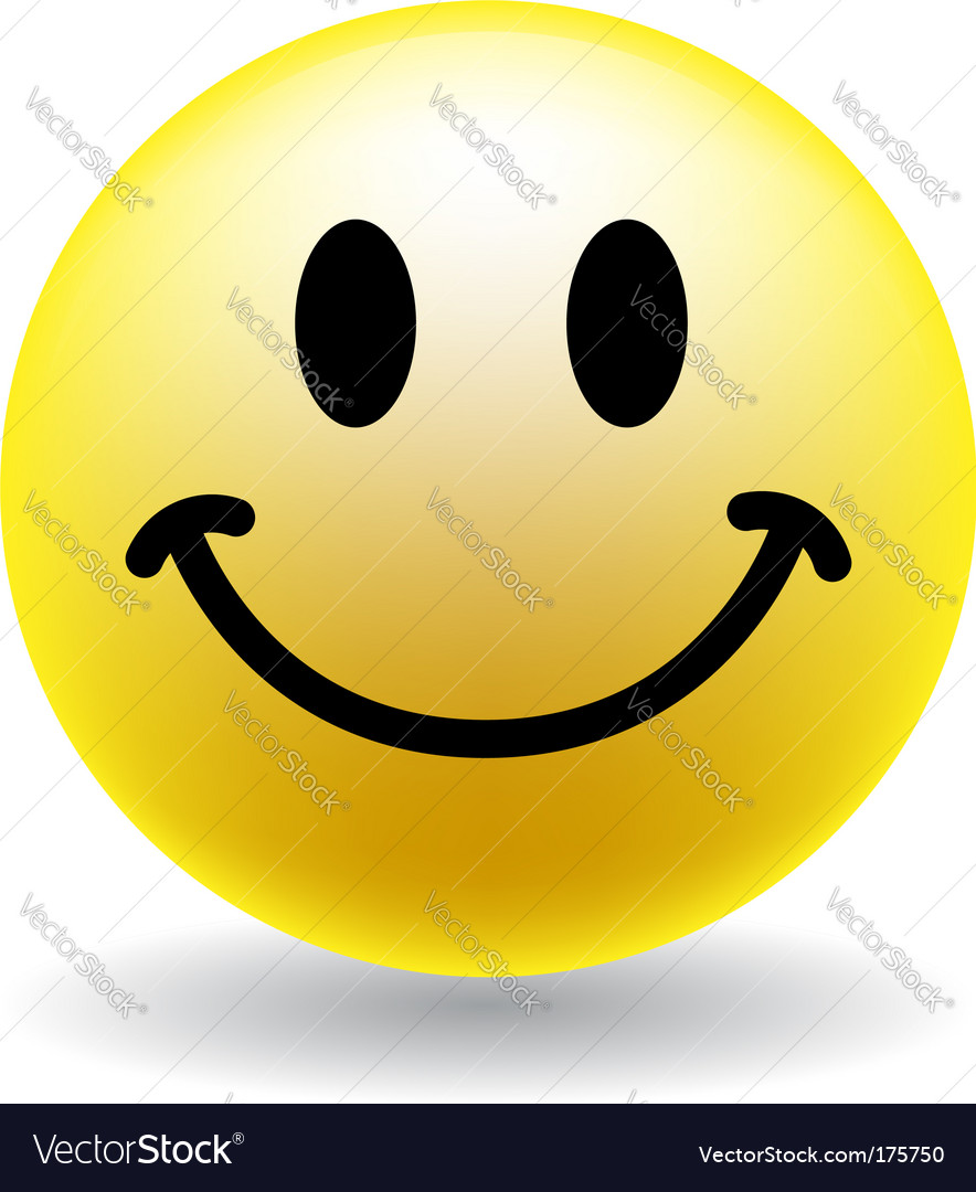 A happy smiley face button vector | Price: 1 Credit (USD $1)