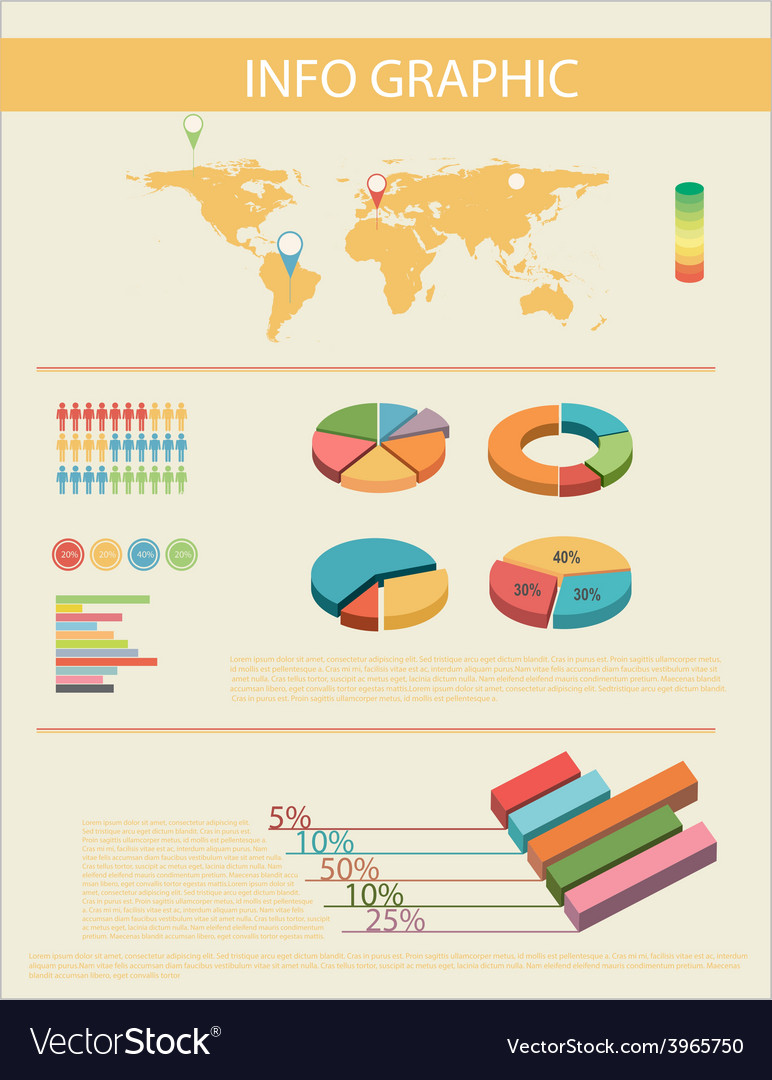 An infochart with a map vector   Price: 1 Credit (USD $1)