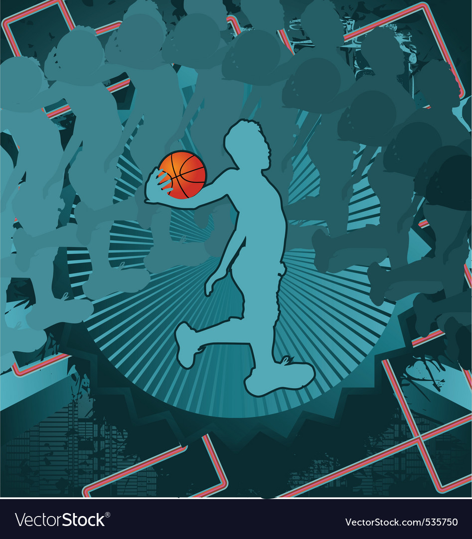 Basketball vintage design vector | Price: 1 Credit (USD $1)