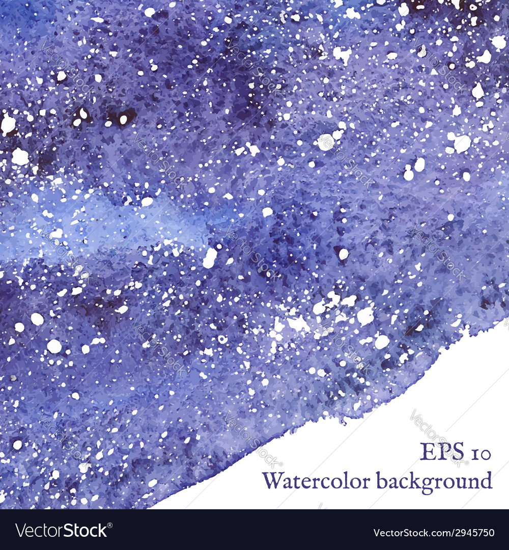 Blue space background watercolor vector | Price: 1 Credit (USD $1)