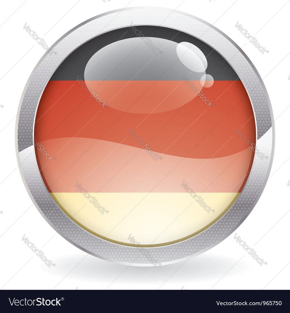 Gloss button with german flag vector | Price: 1 Credit (USD $1)