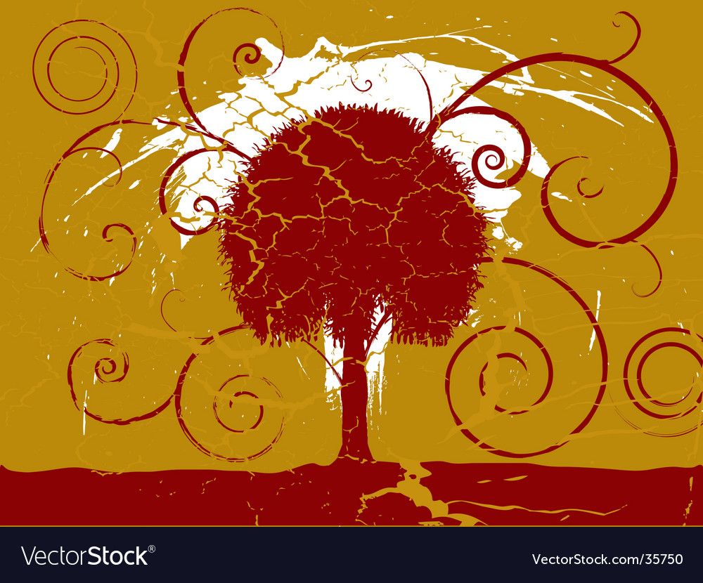 Grunge tree vector | Price: 1 Credit (USD $1)