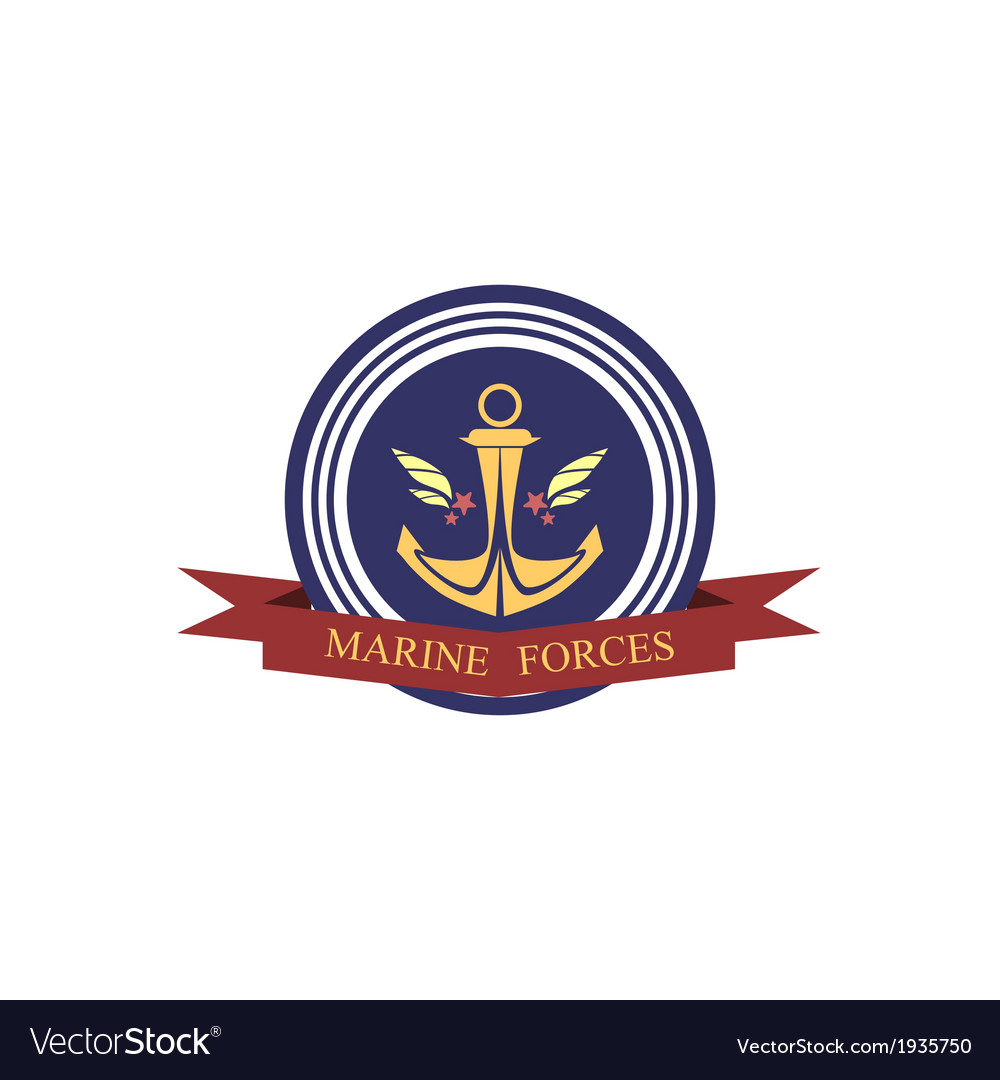 Marine forces emblem vector | Price: 1 Credit (USD $1)