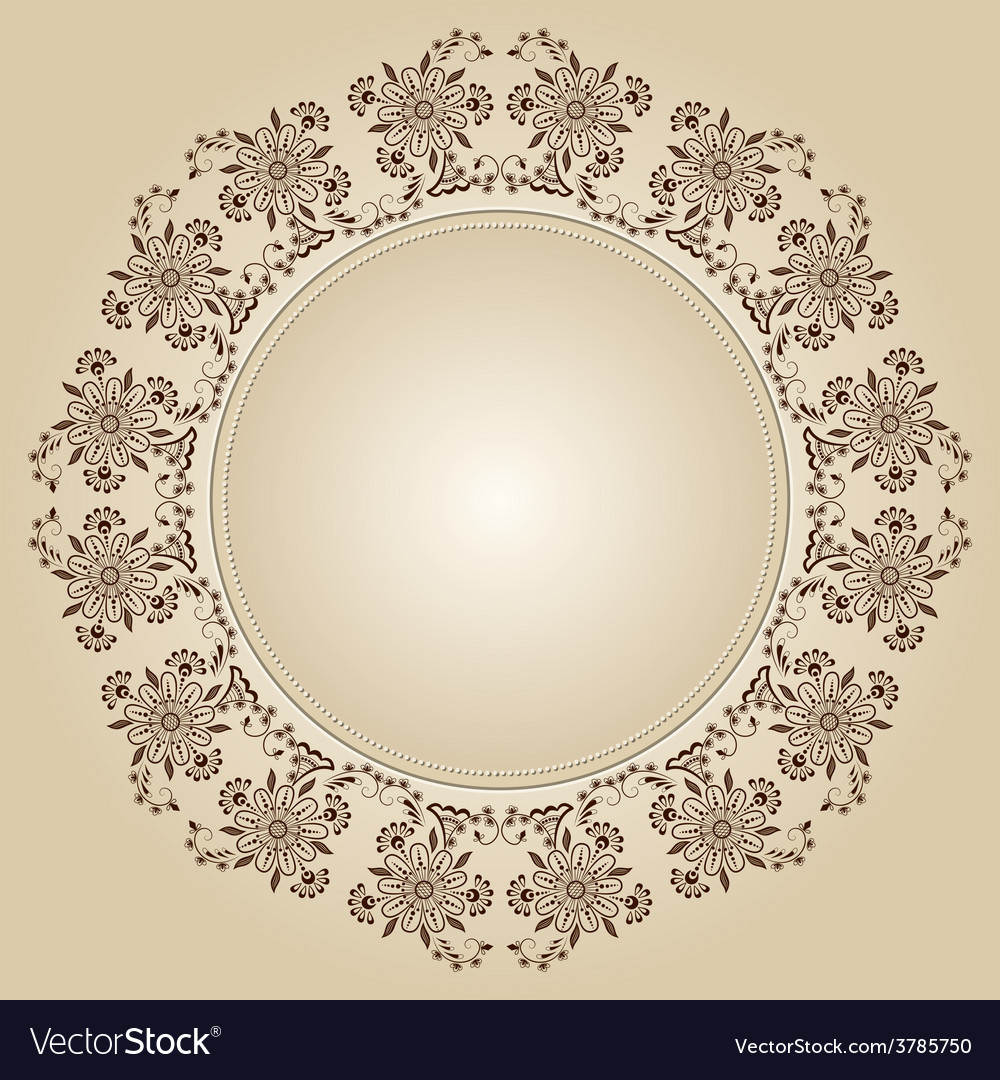 Ornamental round lace with damask and vector | Price: 1 Credit (USD $1)