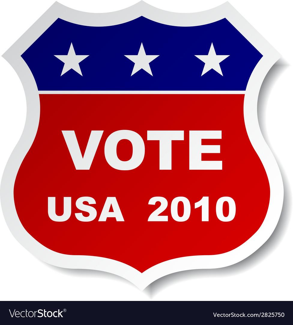 Patriotic vote sticker vector | Price: 1 Credit (USD $1)
