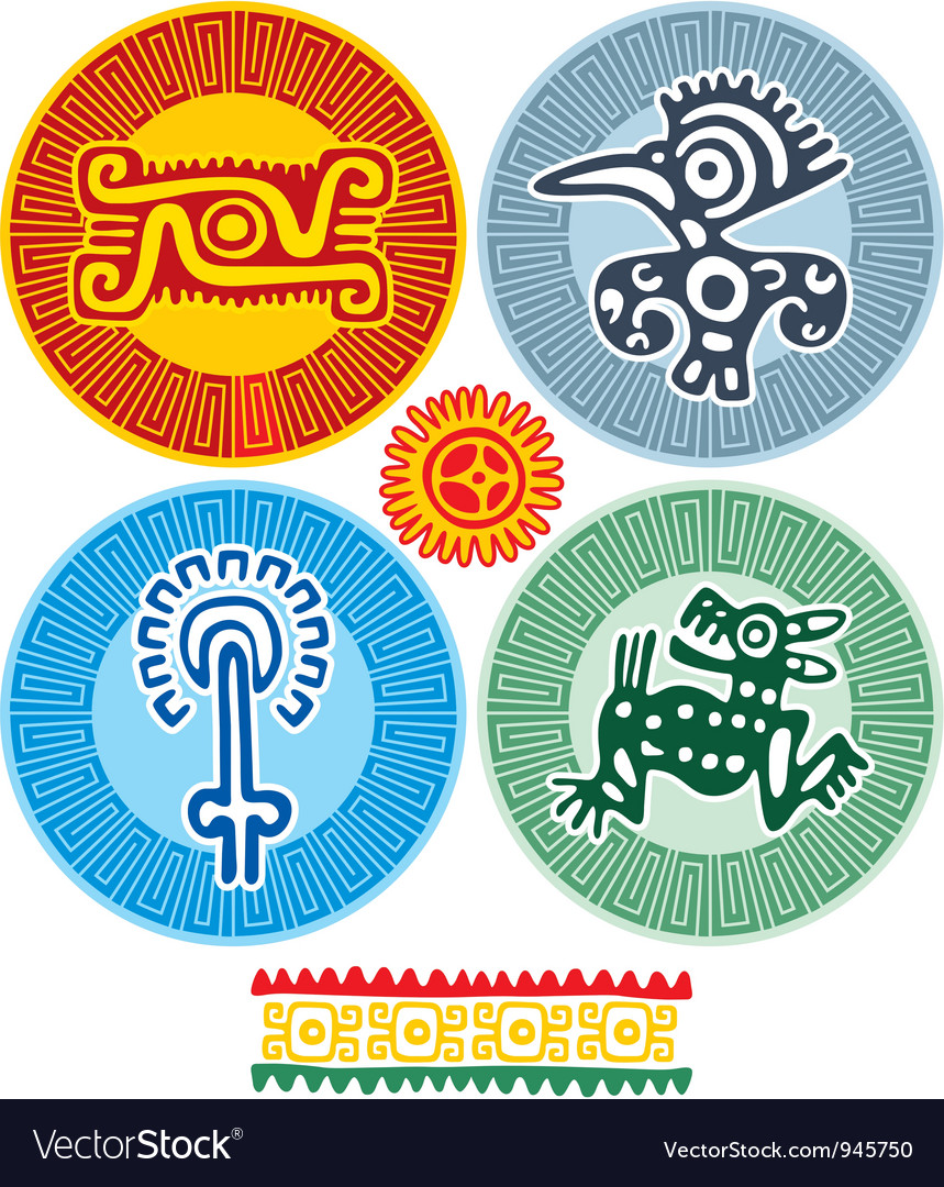 Set of mexican design elements vector | Price: 1 Credit (USD $1)