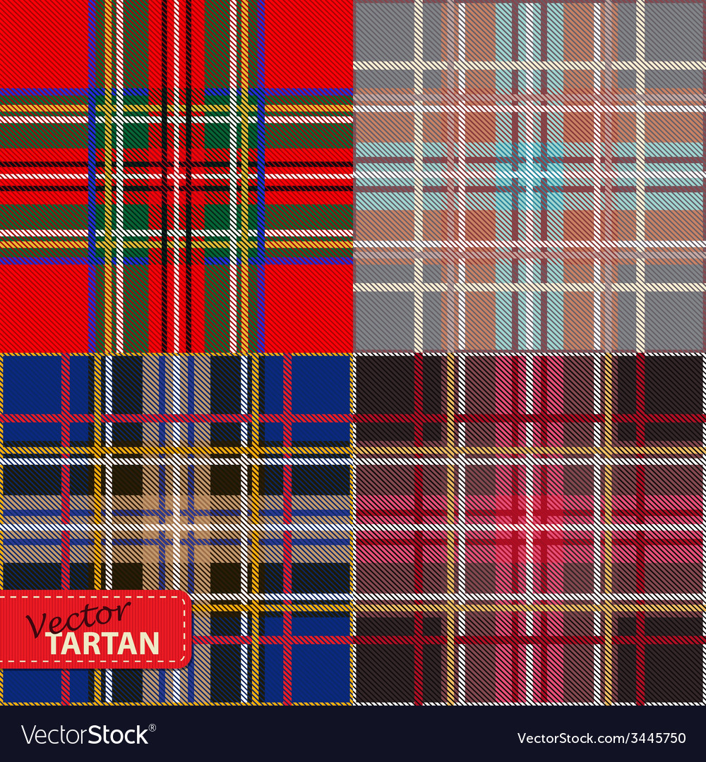 Set of seamless tartan pattern vector | Price: 1 Credit (USD $1)