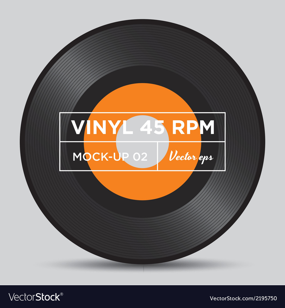 Vinyl 45 rpm mockup 02 vector | Price: 1 Credit (USD $1)