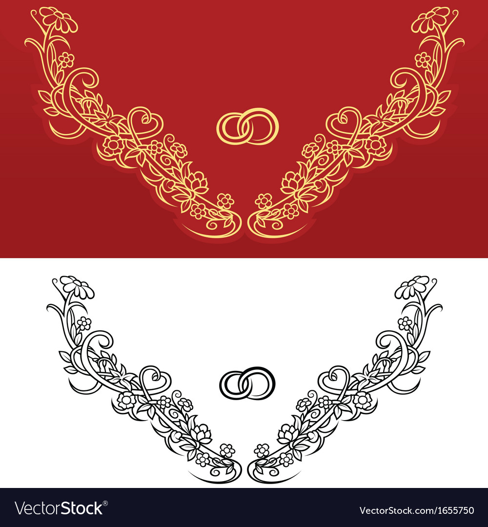 Wedding ornament vector | Price: 1 Credit (USD $1)
