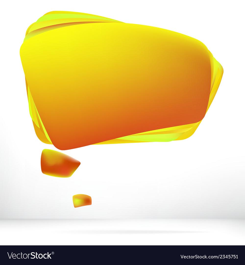 Abstract orange warm speech bubble  eps8 vector | Price: 1 Credit (USD $1)