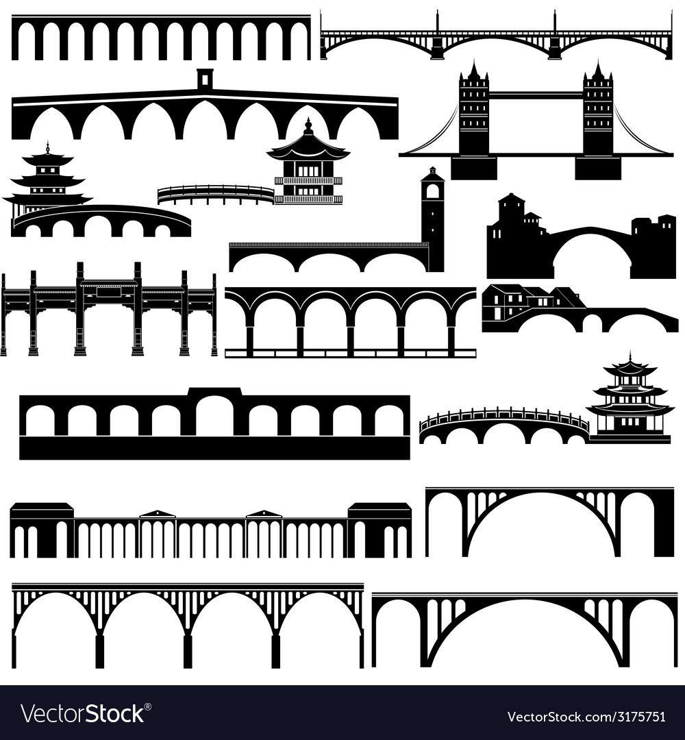 Architecture bridges vector | Price: 1 Credit (USD $1)