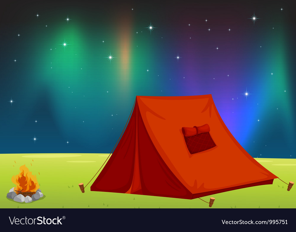 Camping field vector | Price: 1 Credit (USD $1)