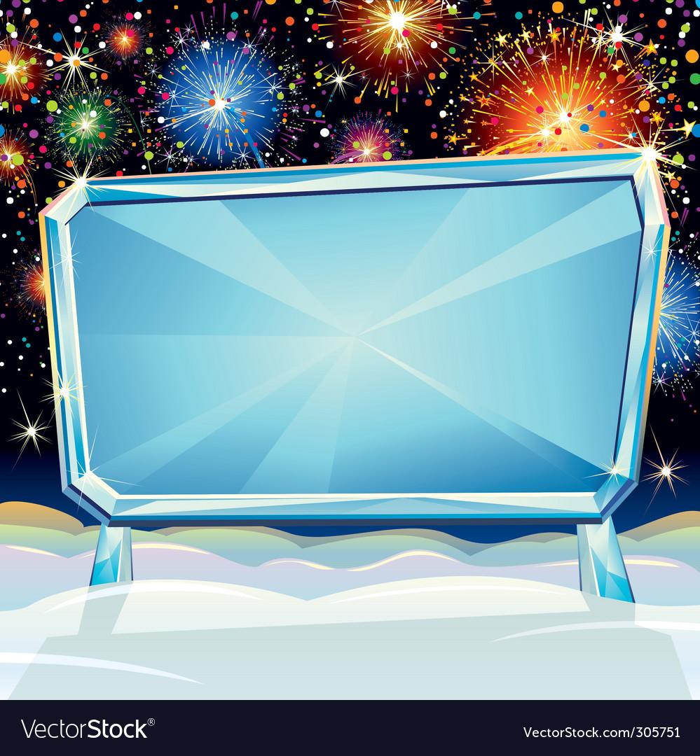 Christmas billboard vector | Price: 3 Credit (USD $3)