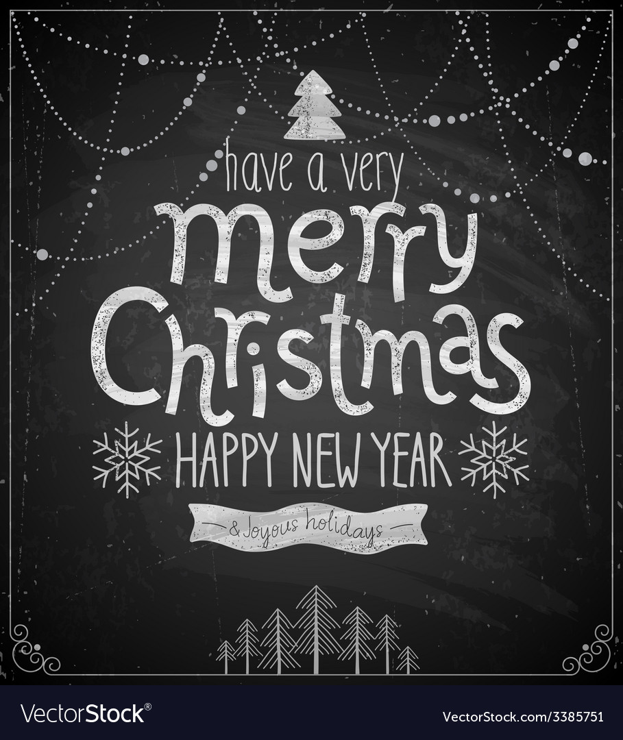 Christmas poster - chalkboard style vector | Price: 1 Credit (USD $1)