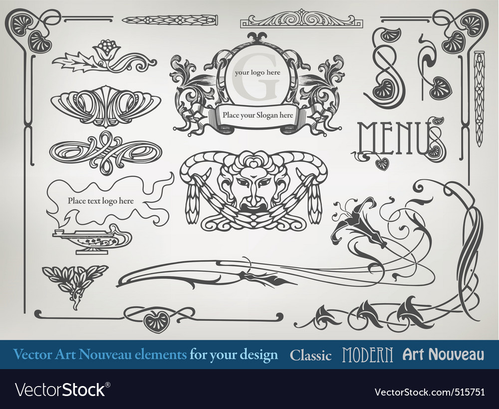 element art nouveau vector | Price: 1 Credit (USD $1)