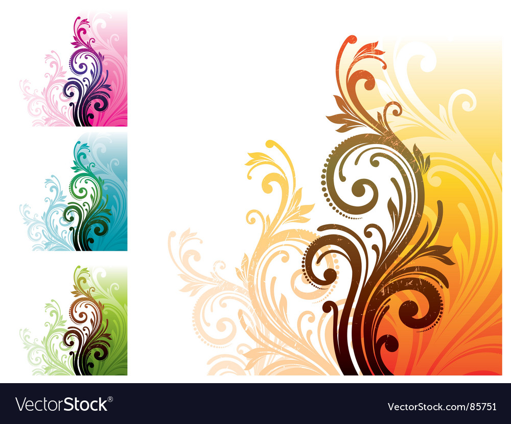 Floral decorative ornament vector | Price: 1 Credit (USD $1)