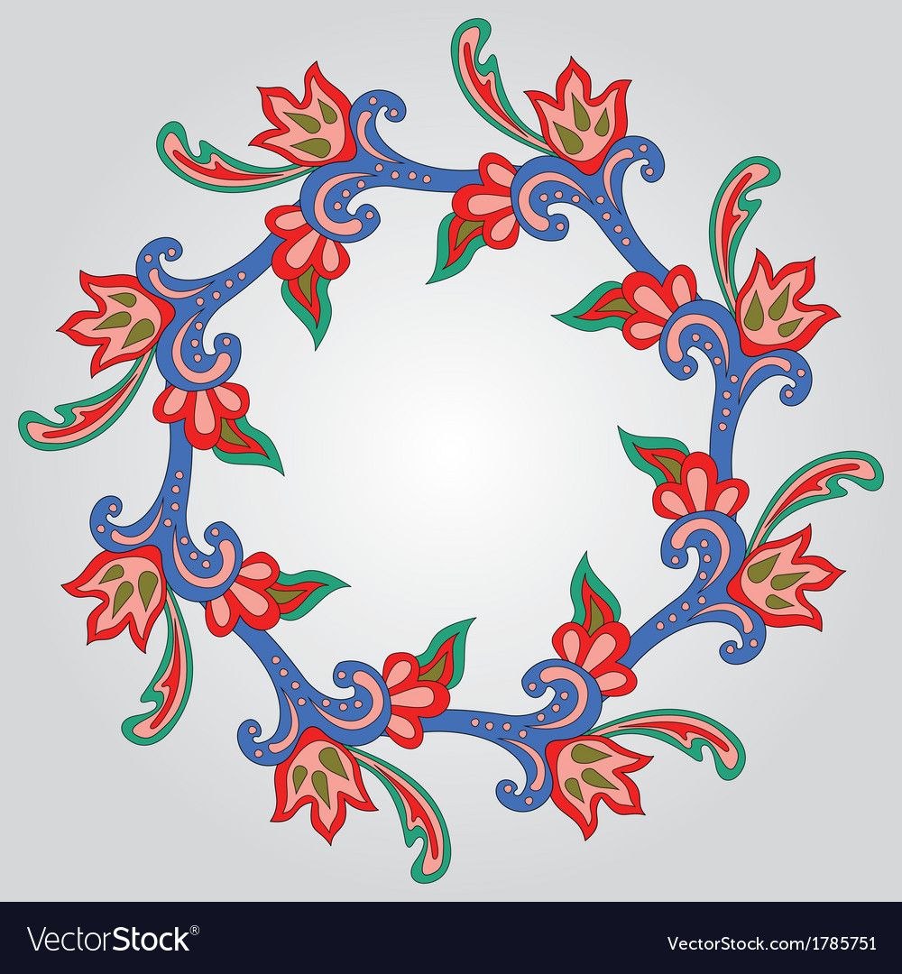 Floral garland vector | Price: 1 Credit (USD $1)