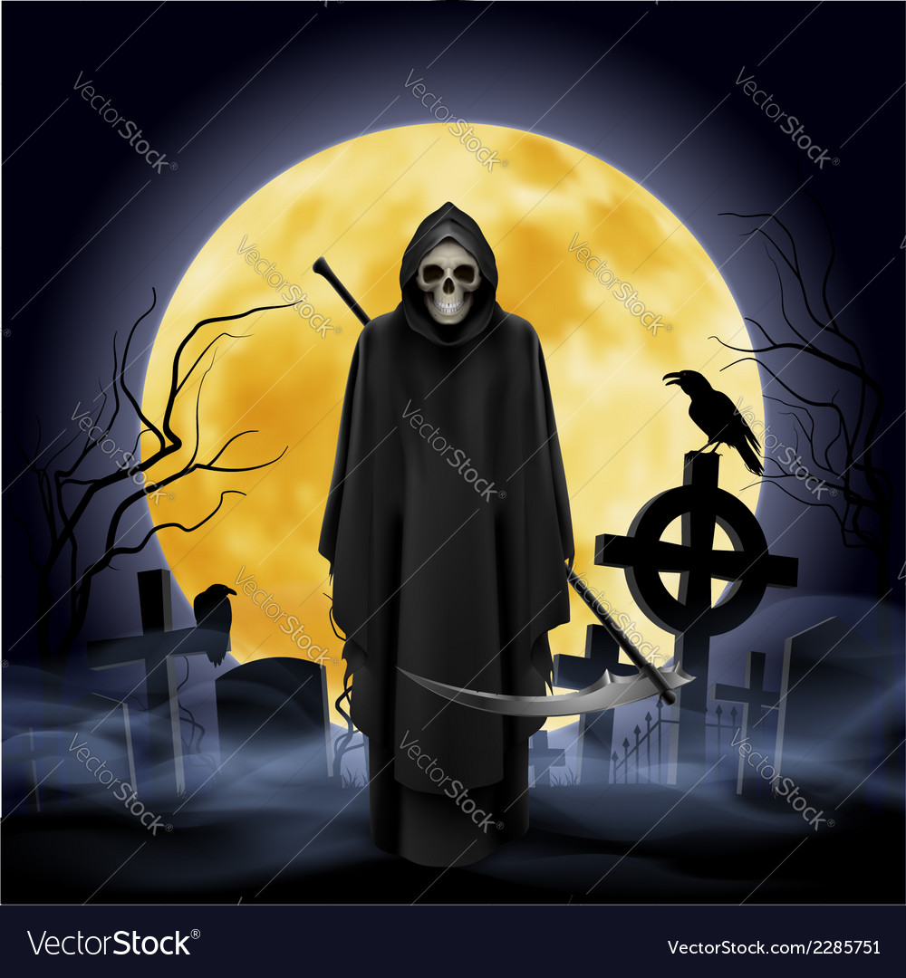 Ghost with a scythe vector | Price: 1 Credit (USD $1)