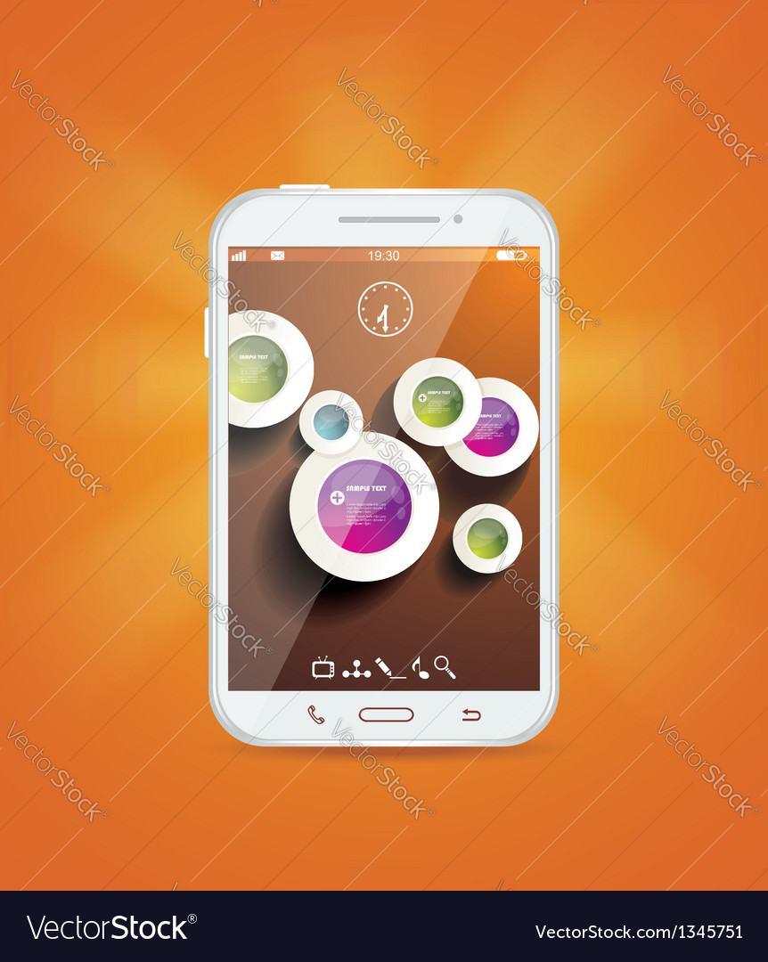 Touchscreen smartphone vector | Price: 1 Credit (USD $1)