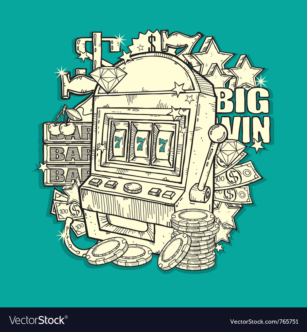 Vintage slot machine vector | Price: 1 Credit (USD $1)