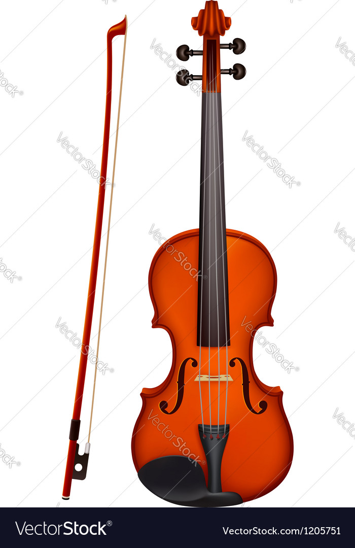 Violin with the fiddlestick light vector | Price: 1 Credit (USD $1)