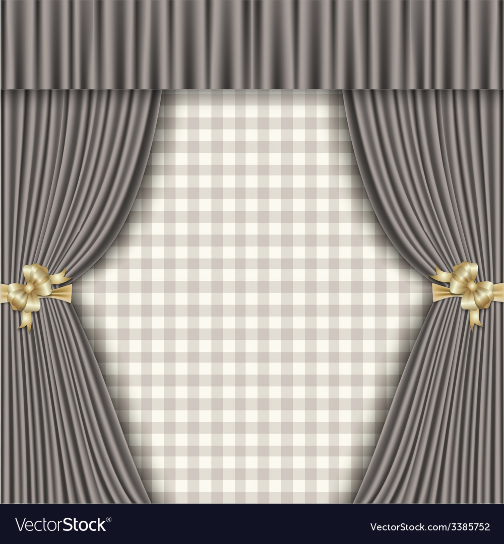 Background with theatrical curtains in shades of vector | Price: 3 Credit (USD $3)