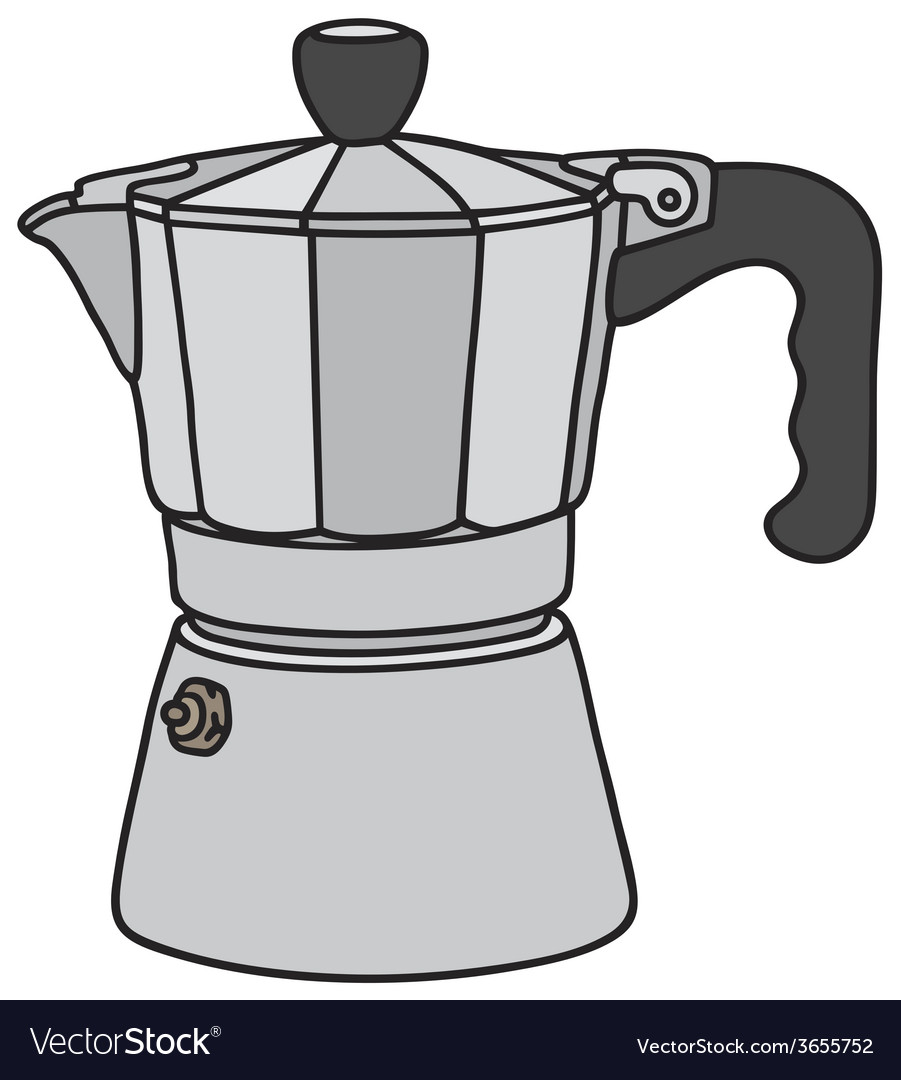 Classic espresso maker vector | Price: 1 Credit (USD $1)