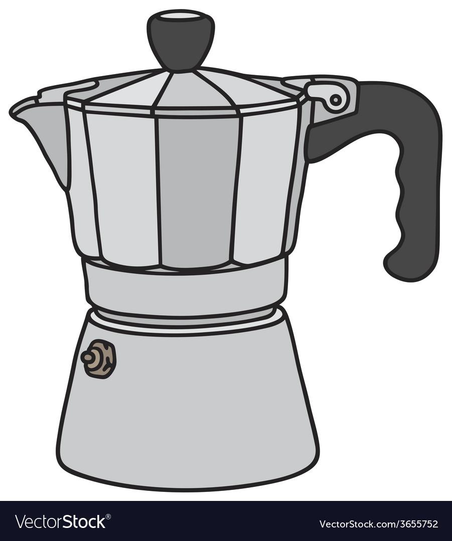 Classic espresso maker vector | Price: 1 Credit (USD $1)