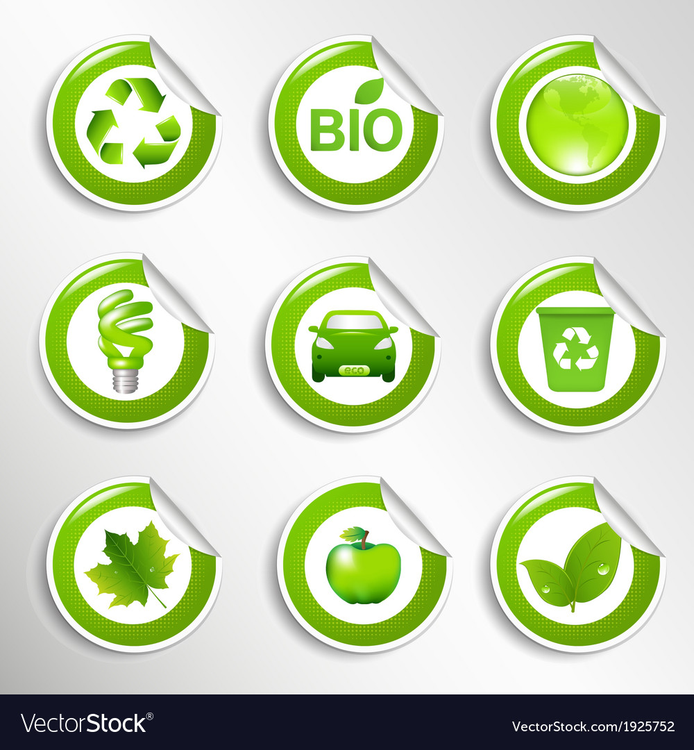 Eco labels set vector | Price: 1 Credit (USD $1)