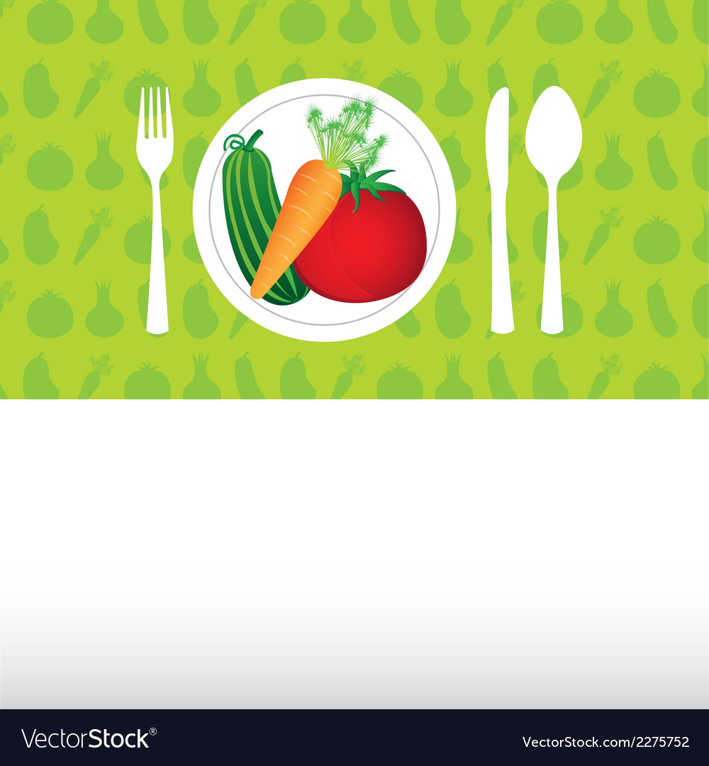 Fruit and vegetables background vector | Price: 1 Credit (USD $1)