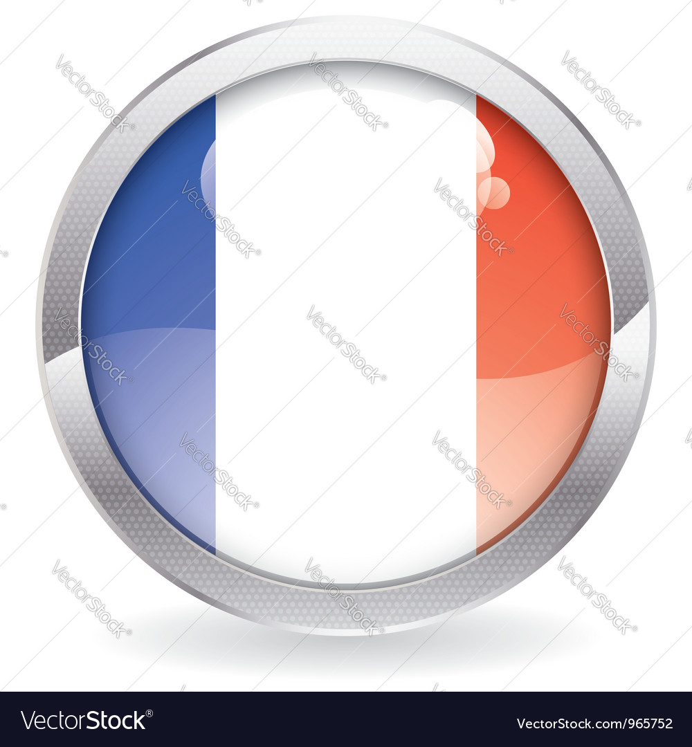 Gloss button with french flag vector | Price: 1 Credit (USD $1)