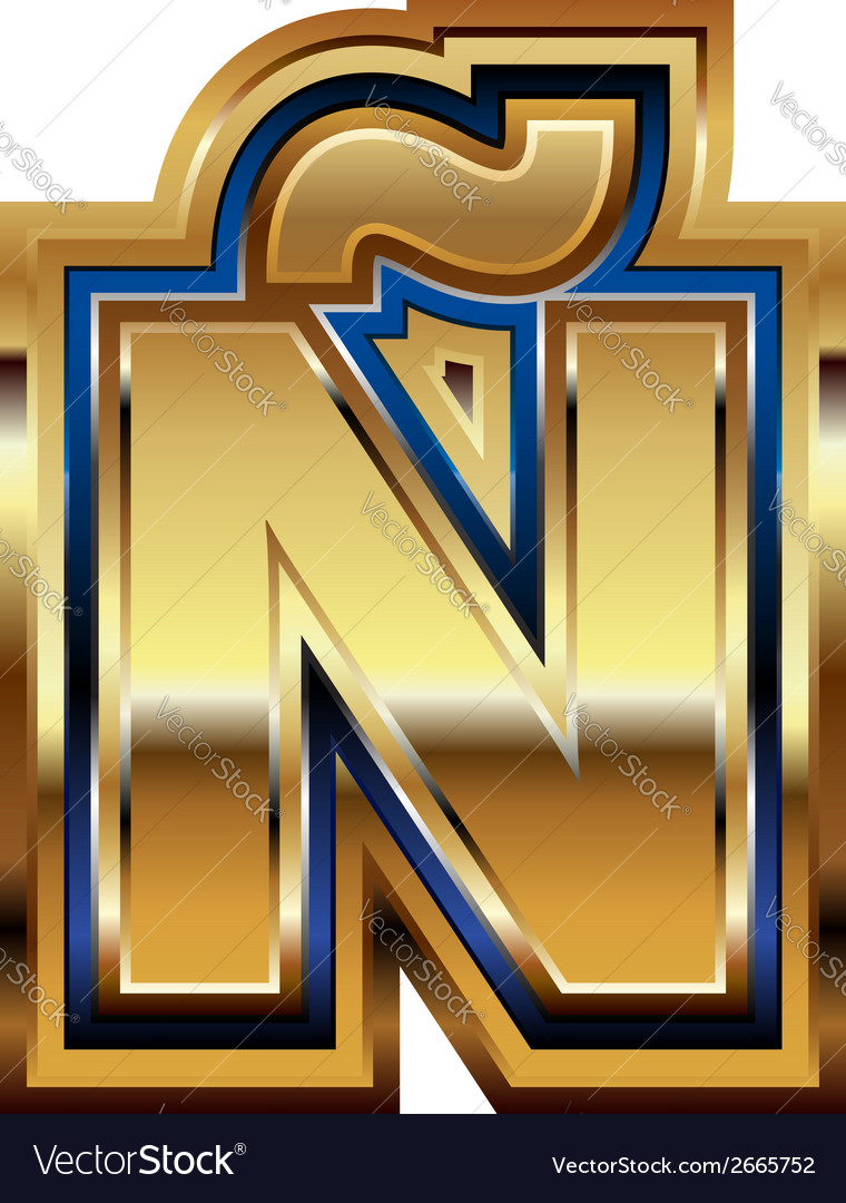 Golden font letter vector | Price: 1 Credit (USD $1)